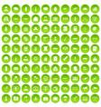 100 military icons set green circle vector image vector image