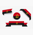 angolan flag stickers and labels vector image vector image