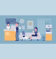 bank office interior design vector image vector image
