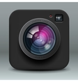 Black color photo camera icon vector | Price: 1 Credit (USD $1)