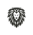black lion symbol on white background vector image vector image