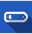 blue information icon - battery low vector image
