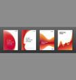 Brochure cover design templates set for business