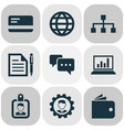 business icons set with identification structure vector image vector image