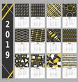 calendar 2019 simple calendar design calendar vector image vector image