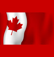 canada day banner background design of flag with vector image vector image