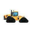 caterpillar modern tractor vector image vector image