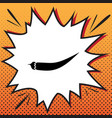 chilli pepper sign comics style icon on vector image