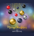 christmas blurred background with bauble vector image