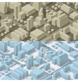City plan isometric vector image vector image