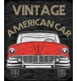 classic garage american car vector image