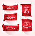 collection of christmas parchment scroll vector image vector image