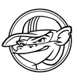 Cool black and white monkey with cap vector image vector image