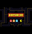 covid19-19 on classic game theme banner background vector image