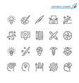 creativity line icons vector image