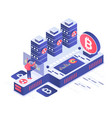 cryptocurrency isometric vector image vector image