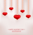 Cute Card with Red Bow Rose Heart for Happy vector image