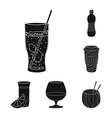 design drink and bar symbol set of vector image vector image