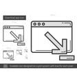 Download app line icon vector image vector image