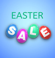 Easter sale background with eggs vector image
