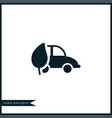 eco car icon simple vector image