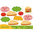 education paper game for children sandwich vector image vector image