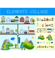 Elements of the Modern Village vector image vector image