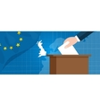eu british referendum europe union exit britain vector image
