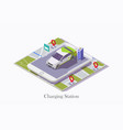 ev charging station technology web banner vector image vector image