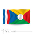 Flag of Reunion vector image vector image