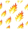 Flame fire seamless background vector image vector image