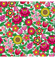 floral seamless polish folk art pattern vector image vector image