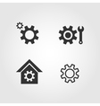 Gear icons set flat design vector image vector image