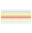 gear shape halftone spectrum effect vector image vector image