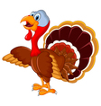 happy turkey cartoon for your design vector image vector image