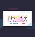 idea sale website landing page businessman or vector image vector image