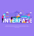 interface for people background vector image