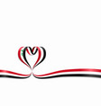 iraqi flag heart-shaped ribbon vector image
