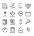 Line tax icons vector image vector image