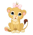 lion girl cub vector image vector image