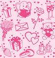 Love patterns set vector image vector image