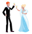 man and woman in vintage style clothes vector image vector image