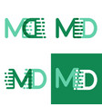 md letters logo with accent speed in light green