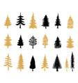 modern christmas trees scandinavian vector image vector image