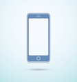New smartphone flat icon on blue background vector image vector image