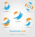 Parachute and parachute club business icon vector image
