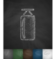 punching bag icon Hand drawn vector image