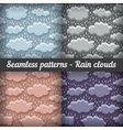 Rain clouds Storm Seamless pattern set vector image