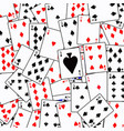 random playing card background vector image vector image