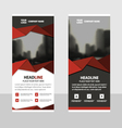 Red Business Roll Up Banner flat design template vector image vector image